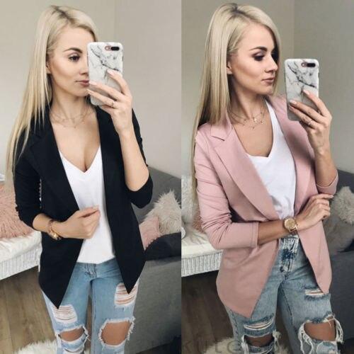 New Fashion Women Casual Suit Coat Business Blazer Long Sleeve Jacket Outwear