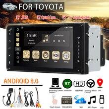 """7 """"Car Stereo 2DIN per Toyota per Android 8 Blutooth WIFI GPS Nav Quad Core Lettore Radio Video MP5 auto Lettore Multimediale"""
