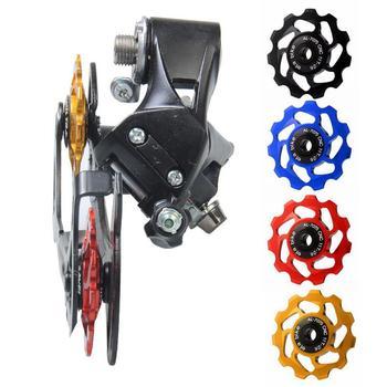 Jazda na rowerze MTB do roweru szosowego i górskiego rower 11T przerzutka tylna koło kopiujące rolka prowadząca łożyska ceramiczne ze stopu aluminium tanie i dobre opinie Przerzutka przednia Przerzutki 11 Prędkości HF00319 Support