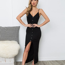 Sexy backless dresses woman party night plus size boho v-neck summer dress 2019  streetwear korean maxi bandage