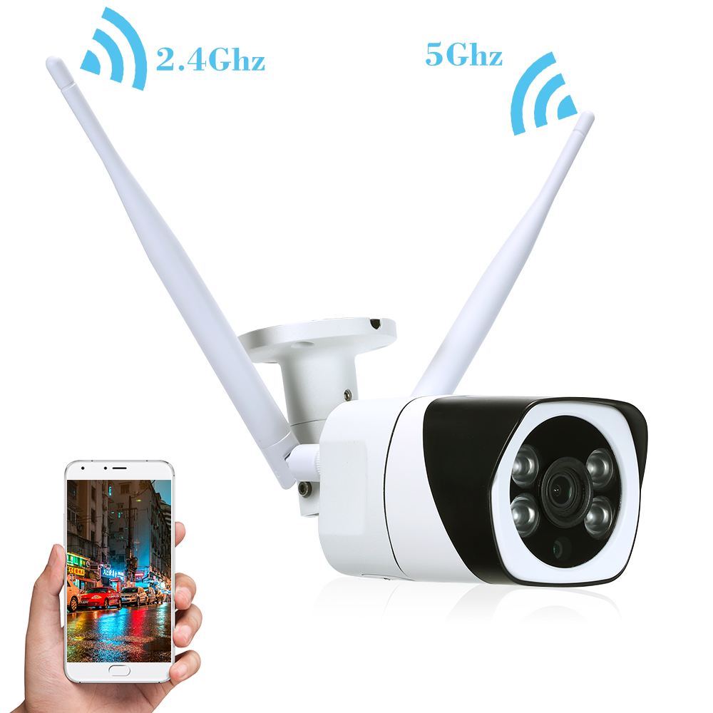 1080P HD Bullet 2 4Ghz 5Ghz Dual Band WIFI Camera Outdoor Weatherproof Wireless IP Camera 2