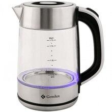 Чайник электрический GEMLUX GL-EK891G (Мощность 2200 Вт, стеклянный корпус, объем 1,7 л., подсветка)