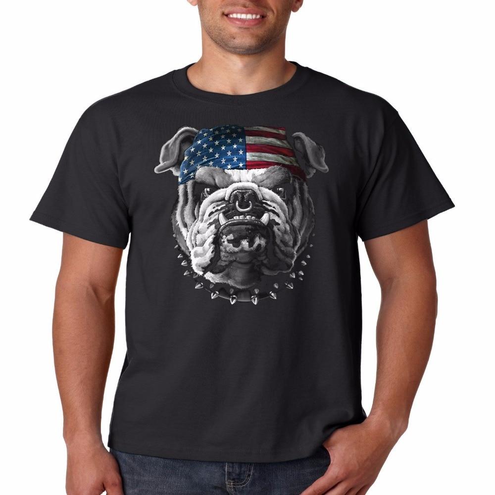 2019 Männer Der Mode Farbe Sommer Heißer Verkauf Männer Kleidung Der Patriotischen Bikes Amerikanischen Bulldogs Lustige T-shirts