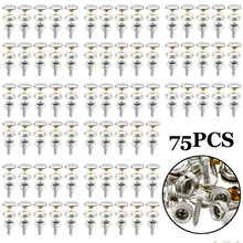 For Car Hoods Marine Canvas Cover Screw Stud Fastener Snaps Buttons Socket 75pcs(China)