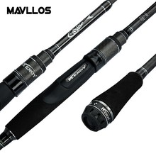 Mavllos Lure Weight 8-25gCarbon Fishing Rod 1.98m M Hardness Contraction Length 54cm Action Fast Saltwater Carbon Spinning