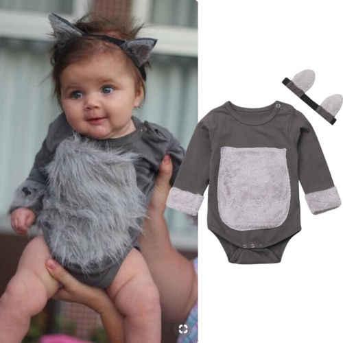 094850b34 Valentine's Day present Cute Kitty jumpsuit Romper Cat Headband for Newborn  Baby Boy Girl Infant Children