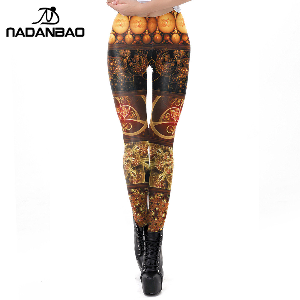 NADANBAO Steampunk Women Legging Fitness Workout Slim Leggings For Girl Elasticity Leggin Plus Size Pants
