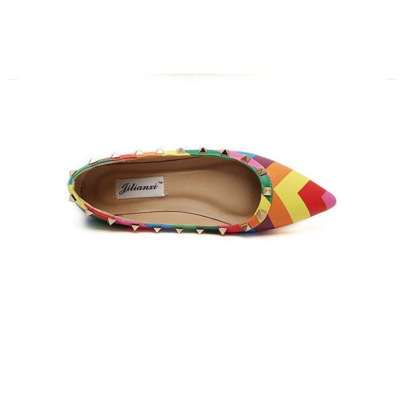 Partie pompes Ribbons Fraîcheur Color Gladiateur Chaussures with Femme Rivet Printemps De Mix Pompes Vigueur Tb06 Automne Bateau Chaussure Femmes Dames en Arc Zwx1q6q