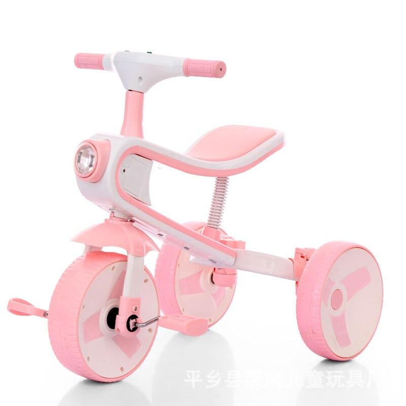 Nouveau tricycle pour enfants 3-6 ans déformable tricycle multi-fonction balance voiture génération bébé poussette