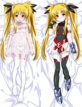 Japanese Anime Magical Girl Lyrical Nanoha sexy girl Fate Testarossa Harlaown Dakimakura pillow cover case hug body pillowcase
