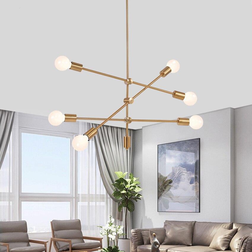 Post-moderne LED Lampe Suspendue Noir/Or Verre Pendentif Lampe Chambre Salon Restaurant Cuisine Luminaires Luminaire Éclairage