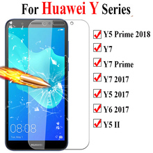 Protective Glass On The For Huawei Y5 Y7 Y6 Prime 2018 Screen Protector For Y9 Y7 Y5 Ii Y6  Huavey Tempered Glas Full Cover Film 9d glass for huawei y7 y9 2018 protective glass for huawei y9 2019 y9 prime y7 prime 2019 jkm lx1 p smart z screen cover film