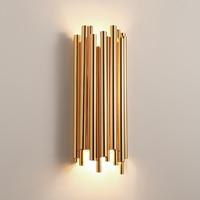 Дар пост современный Брубек настенный светильник роскошный отель Кофе кафе украшения дома G9 светодиодный светильники золота алюминиевая т