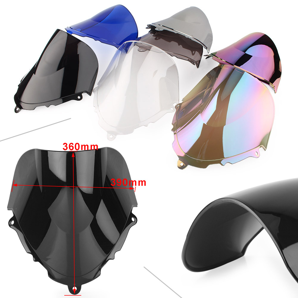 Motorcycle Windshield Windscreen For <font><b>SUZUKI</b></font> <font><b>GSX600F</b></font>/GSX750F 1998 <font><b>1999</b></font> 2000 2001 2002 2003 2004 2005 2006 2007 2008 Double Bubble image
