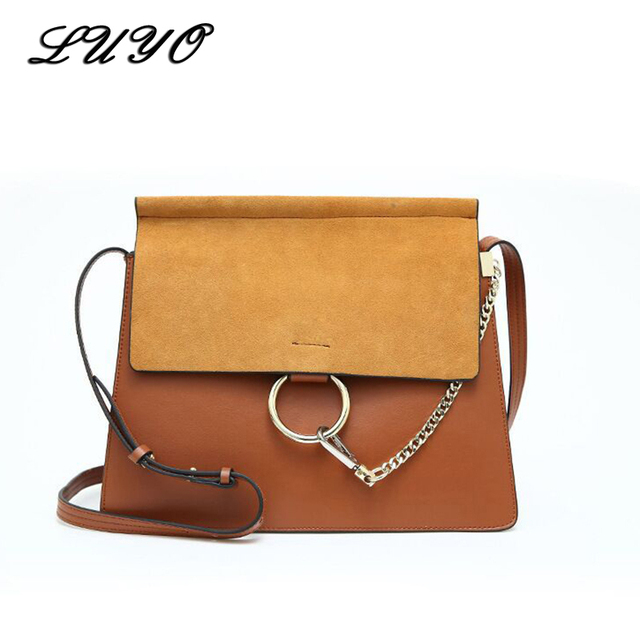 f2ab437e6bba Fashion Brand Luxury Handbags Women Bags Designer Genuine Leather Suede  Messenger Bag High Quality Cowskin Shoulder Bag Chain