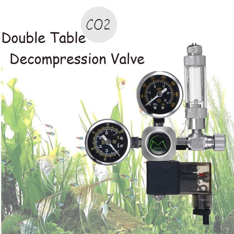 220 V étanche Aquarium CO2 régulateur G5/8 magnétique solénoïde clapet anti-retour Aquarium bulle compteur poisson réservoir outil CO2 contrôle