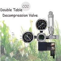 220V Waterproof Aquarium CO2 Regulator G5/8 Magnetic Solenoid Check Valve Aquarium Bubble Counter Fish Tank Tool CO2 Control
