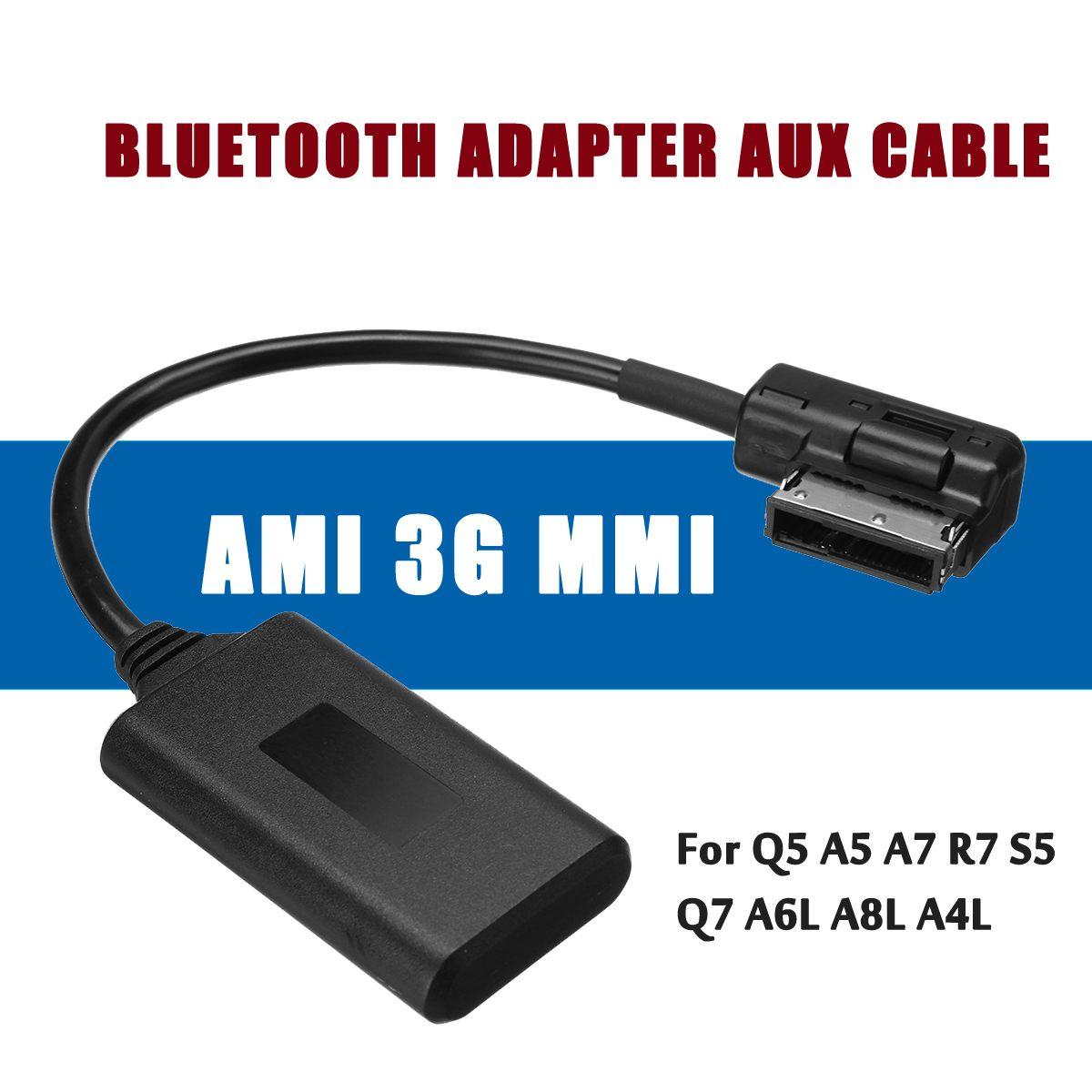 Ami mmi bluetooth moduladapter aux cabo de entrada áudio sem fio aux interface mídia rádio para audi q5 a5 a7 r7 s5 q7 a6l a8l a4l