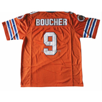AIFFEE #9 Waterboy America Football Jersey Bobby Boucher Orange Halloween White Hip Hop Shirts Tees t shirt Stitched US STOCK