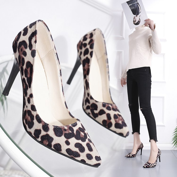 b06f8dfa0d84 2019 Spring Summer Pums Womens Leopard Print High Heels Shoes for Ladies  Shoes Plus Size 34 41 Pumps Women's Footwear Sexy Party