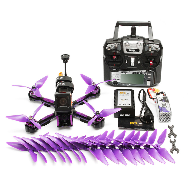 Eachine Wizard X220S F4 5.8G 72CH 30A Dshot600 800TVL Flysky FS-i6X Transmitter w/ A8S Receiver RTF  FPV Racer RC Drone 4