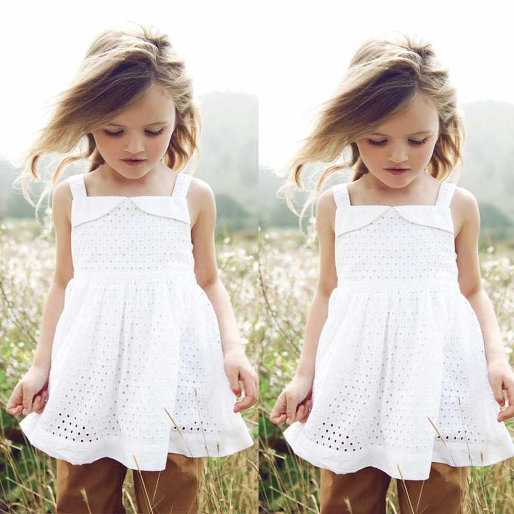 Cô gái mùa hè hoa ăn mặc công chúa Không Tay Ren Rỗng Ra Khỏi Váy Công Chúa Mặt Trời Vuông Cổ Áo Trắng đáng yêu dress dropshipping