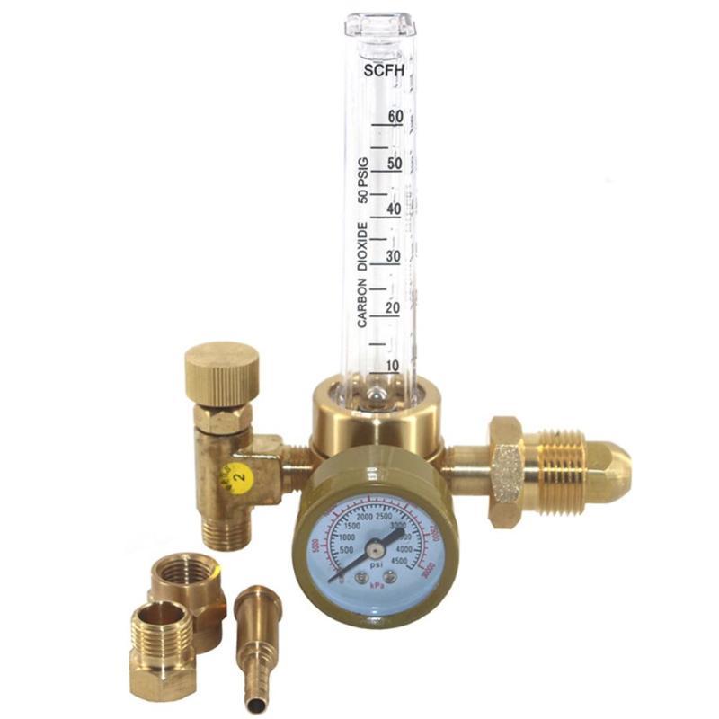 CO2 Gauges Pressure Reducer Argon Flowmeter Regulator Control Valve Welding Brass Pressure Reducer