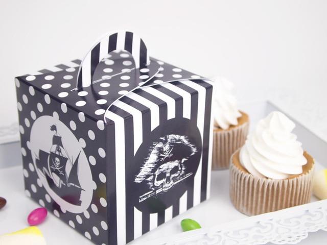 Pirate Theme Favor Box Cupcake Box Candy Box 10pcs Lot Pirate Party