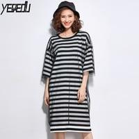 #1620 Tide Summer Gauze Split Joint Striped T Shirt Women Fake Two Piece Short Sleeve Harajuku Big size Loose Tee Femme Fashion