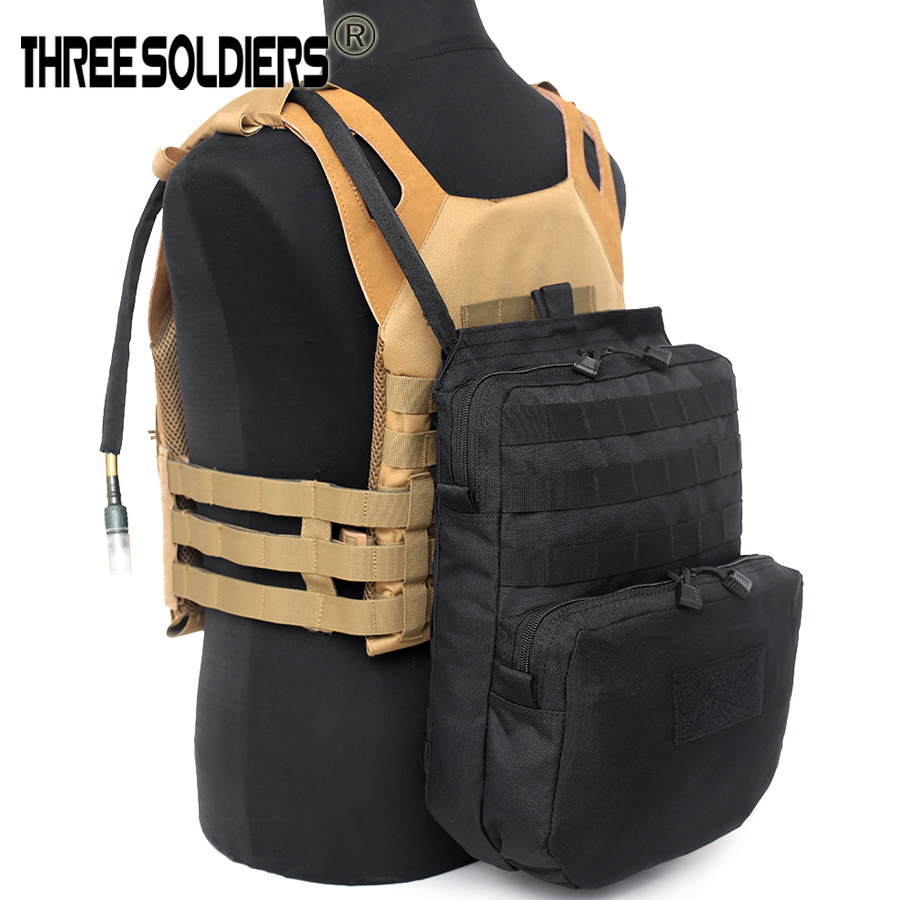 Hydration Pouch Modular Webbing MOLLE For 3L Water Bag Tactical Molle Nylon Pouch Attached To Tactical Vest Hydration Backpack