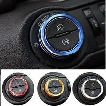 Для Chevrolet круиз Малибу Trax Opel Mokka Astra J Insignia лампа украшение для переключателя фар регулировочная ручка отделка алюминия