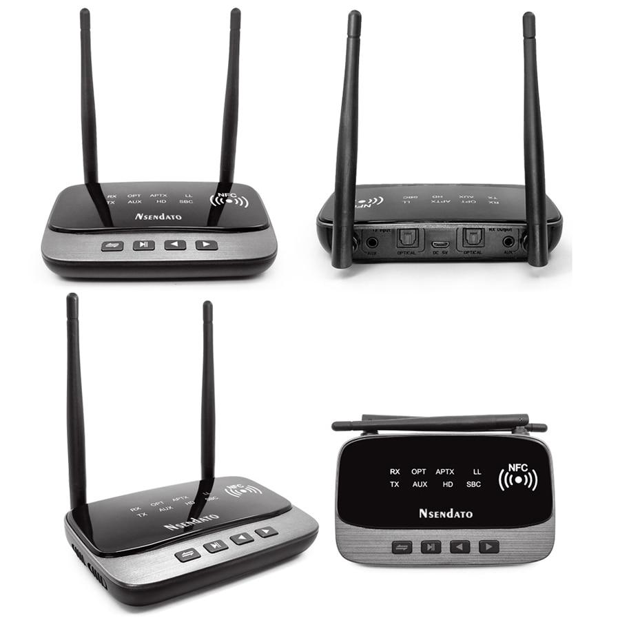3in1 NFC et longue portée 262ft/80 m Bluetooth 5.0 émetteur récepteur adaptateur Audio faible latence AptX HD optique RCA AUX 3.5mm TV