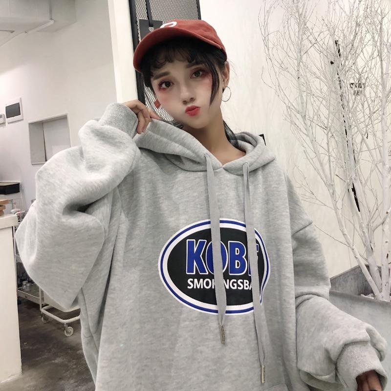 YouGeMan Fashion Streetwear Hip Hop Sweatshirt Women Winter Korean Ulzzang Harajuku Fleece Full Hooded Sweatshirts Hoodies Tops number