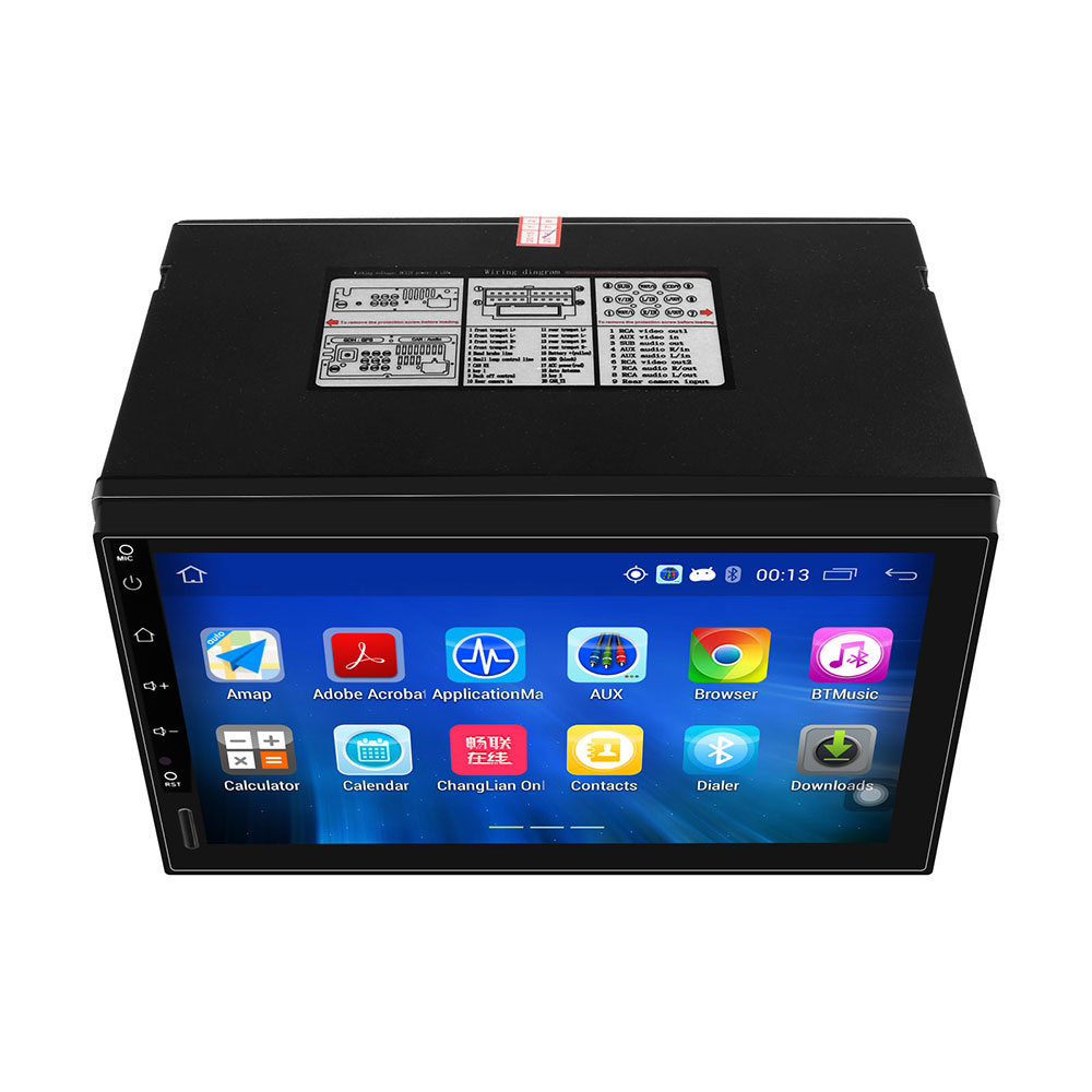 "HD 1024*600 Screen 2 DIN Car GPS Radio Stereo Player 7"" Android 5.1 Quad core 1.6GHz ROM 16G  with 3G WIFI USB Rear Camera"