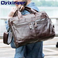 الرجال الجلود حقيبة كمبيوتر محمول لينوفو ديل الذكور جلد طبيعي الكتف حقائب كروسبودي حقيبة حمل حقيبة يد ل ماك بوك اير