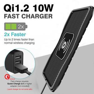 Image 3 - Qi Беспроводное зарядное устройство для автомобильного телефона, держатель для быстрой зарядки, нескользящий коврик для IPhone XS MAX XR Huawei Xiaomi