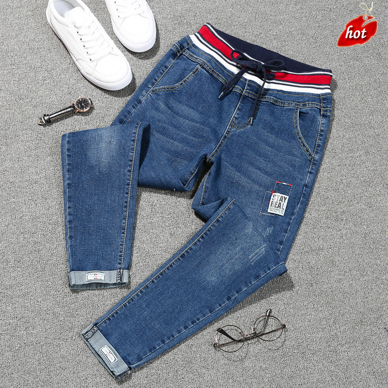 2018 Retro Women Denim Pants High Waist Jeans Woman Casual Vintage Boyfriend Jeans Fashion Big Size Haren Pants Plus Size O8R2