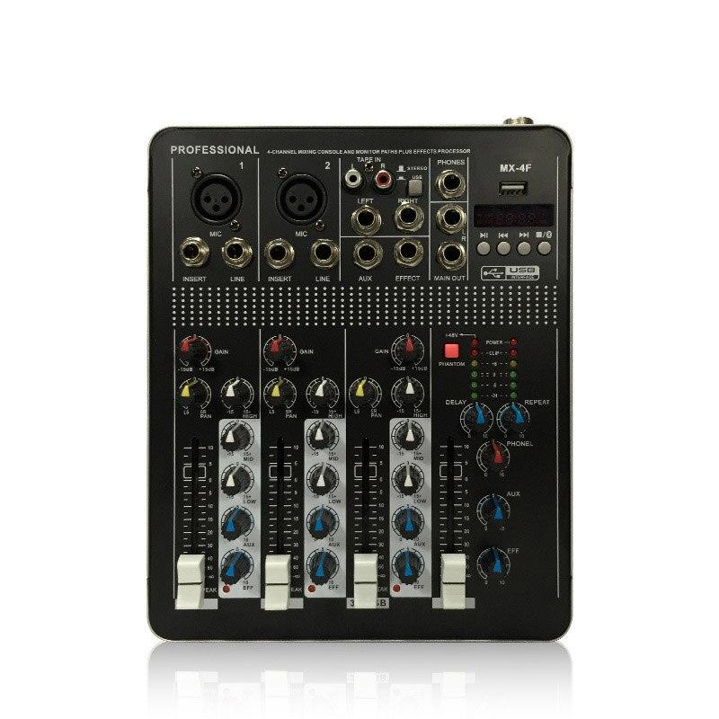 Leory Btf4 4 Kanäle Bluetooth Audio Mischpult Rekord Audio Mixer Mit Usb Dj Controller Mixer Ausrüstung Berufs Einfach Und Leicht Zu Handhaben Tragbares Audio & Video