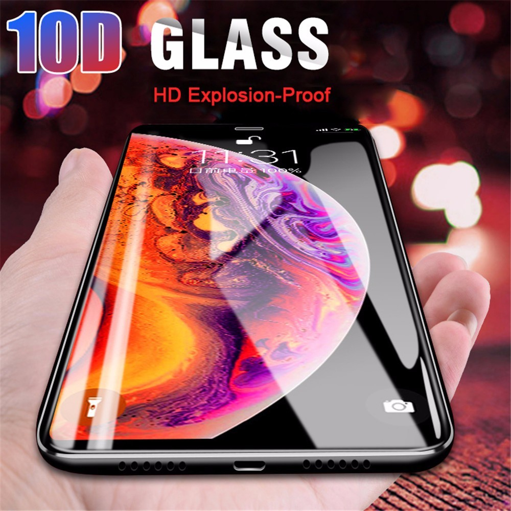Tempered-Glass Screen-Protector 10D iPhone Xr 8-Plus for 6S Full-Cover Premium The Xs-Max
