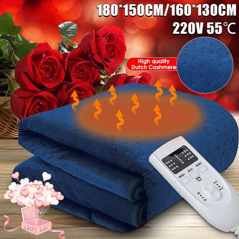 35 55 Degree Electric Blanket Heater Double Size Body Warmer Heated Blanket Thermostat Electric Heating Blanket Electric Heating|Electric Heaters| |  - title=