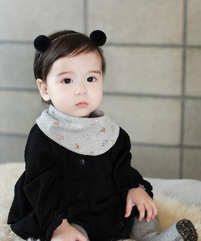 2016 New Infant Newborn Headband Baby Headwear Haidbands Double Ball Hair Band Korean Children Girls Hair Accessories