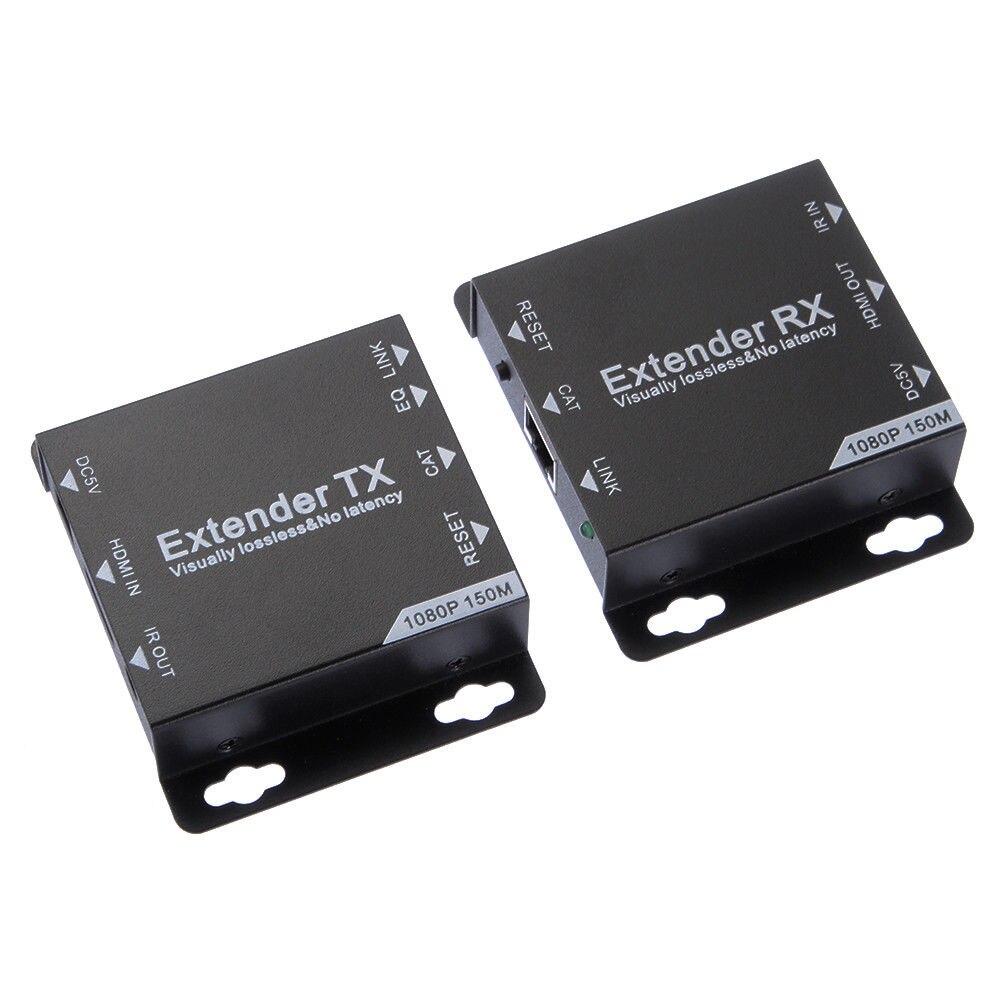 Hdmi Extender Tx + Rx 1080 P à 150 M sur Cat6/Cat7 Utp Ethernet réseau Rj45 câble Us Plug