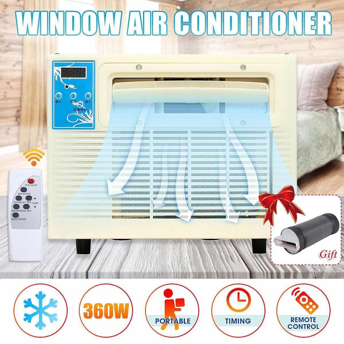 Obligatorisch Klimaanlage Desktops Fenster Klimaanlage Mini Haushalt Luftkühler Klimaanlage Mit Fernbedienung Neue Ankunft 2019 Haushaltsgeräte