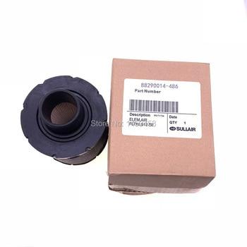 Free shipping 2pcs/lot 88290014-486 OEM black rubber Sullair screw air compressor air filter catridge element spare part