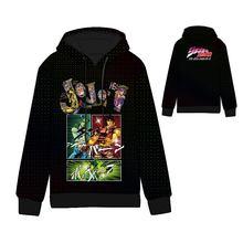 Anime Bizarre Adventure Jose Cotton Cosplay Hoodies Standard Hooded  Winter Tops Unisex funny Sweatshirts