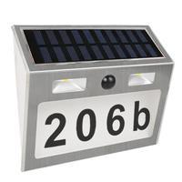 LED Waterproof Number Doorplate Solar Lamp Outdoor Motion Sensor Lights