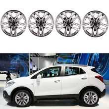 12 Inch 4pcs Car Chrome Wheel Rim Skin Cover  Hub Caps Hubcap Wheel Cover Sliver injora 4pcs wheel rim