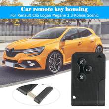 Vodool ABS+Metal Black 3 Buttons Folding Remote Car Key Fob Case For Renault Clio Logan Megane 2 3 Koleos Scenic 83*52*6mm(China)