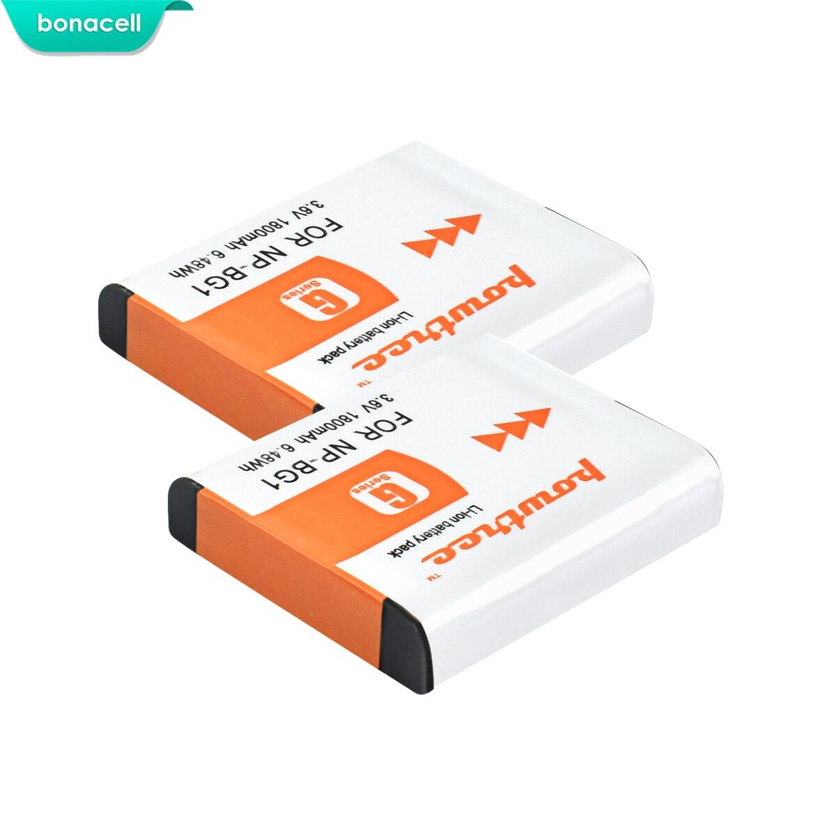 Bonacell 1800mAh NP-BG1 NP BG1 Battery For SONY Cyber-shot DSC-H3 DSC-H7 DSC-H9 DSC-H10 DSC-H20 DSC-H50 DSC-H55 DSC-H70 L10