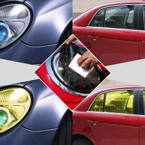 "Image 4 - 30cmx1m 12""x40"" Auto Car Light Headlight Taillight Tint Vinyl Film Sticker Easy Stick Motorcycle Whole Car Decoration 12 Colors"